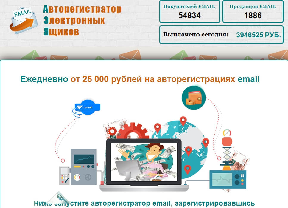 Сервис MailRegistration