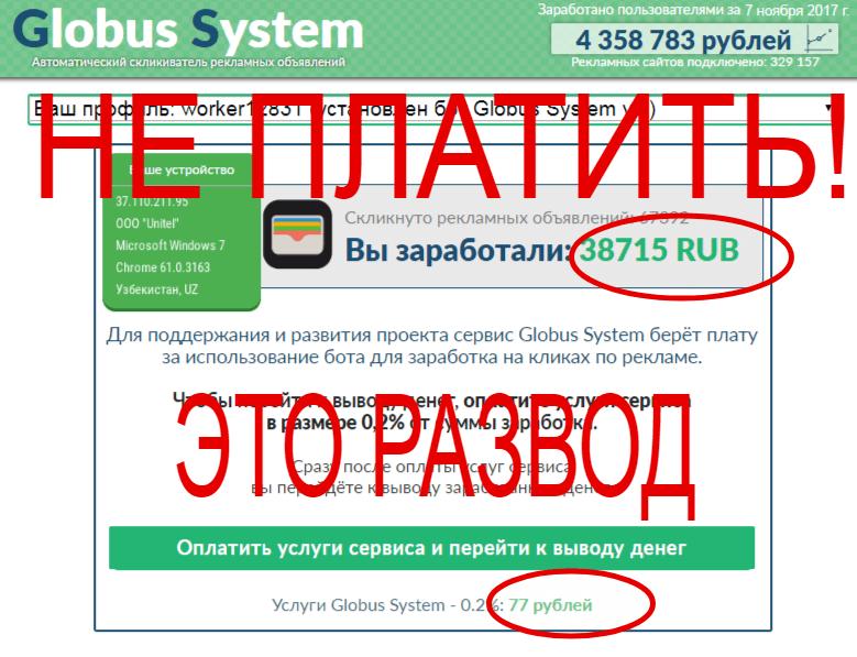 Globus System отзывы