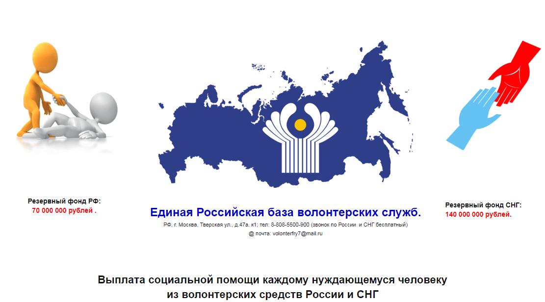 Единая Российская база волонтерских служб