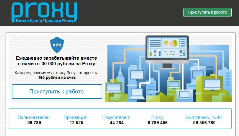 биржа купли продажи Proxy