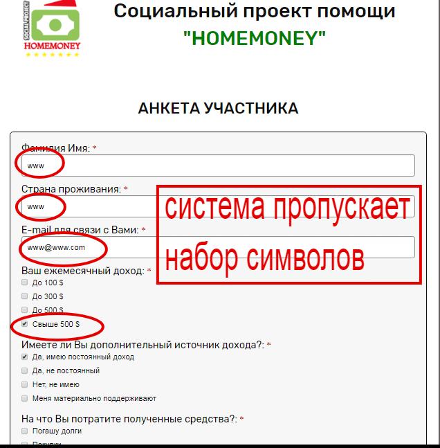 homemoney помощь