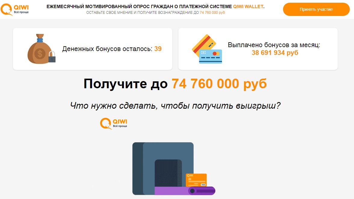 Мотивированный опрос о платежной системе qiwi wallet