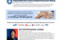 Евразийский Благотворительный Фонд [Лохотрон] — наши отзывы