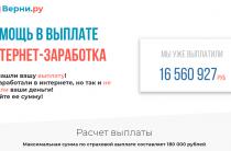 Верни.ру [Лохотрон] — наши отзывы о страховой компании