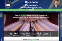 Search engine work [Лохотрон] — Отзывы на блог Ярослава Радченко