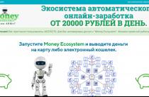 Money Ecosystem [Лохотрон] — отзывы об экосистеме автоматического онлайн-заработка