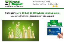 Grand Magnat [Обман] — Платформа быстрых выплат