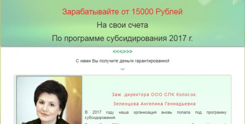 Kolosok Creative Soft [Лохотрон] — отзывы о программе от ООО СПК Колосок