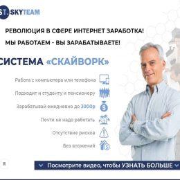 """Сиcтема """"Скайворк"""" [Проверено] – Отзывы о системе заработка от SkyTeam"""