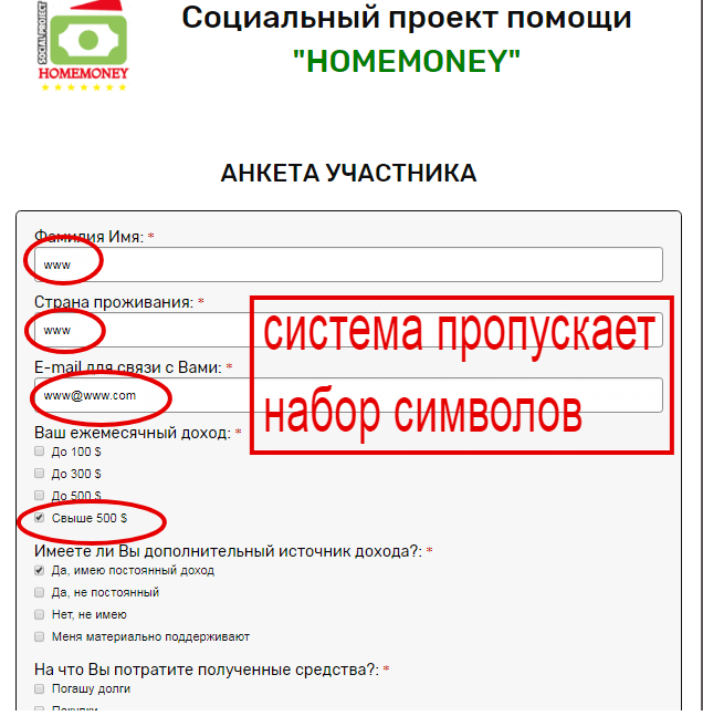 homemoney помощь